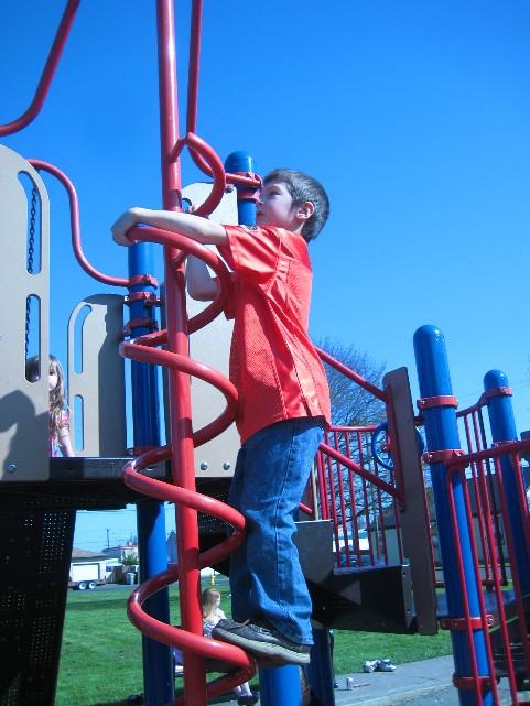 NBoy Playing at the Park