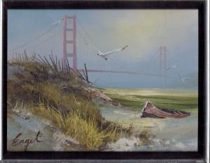 Oil Painting of San Francisco Bridge by Engel