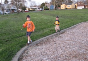 Kids Running At the Park