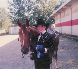 Me and Sandy my Arabian Horse