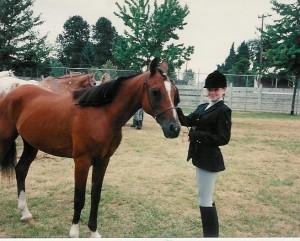 Me and Sandy My Arabian Horse