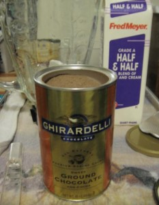 Add Ghirardelli Ground Chocolate