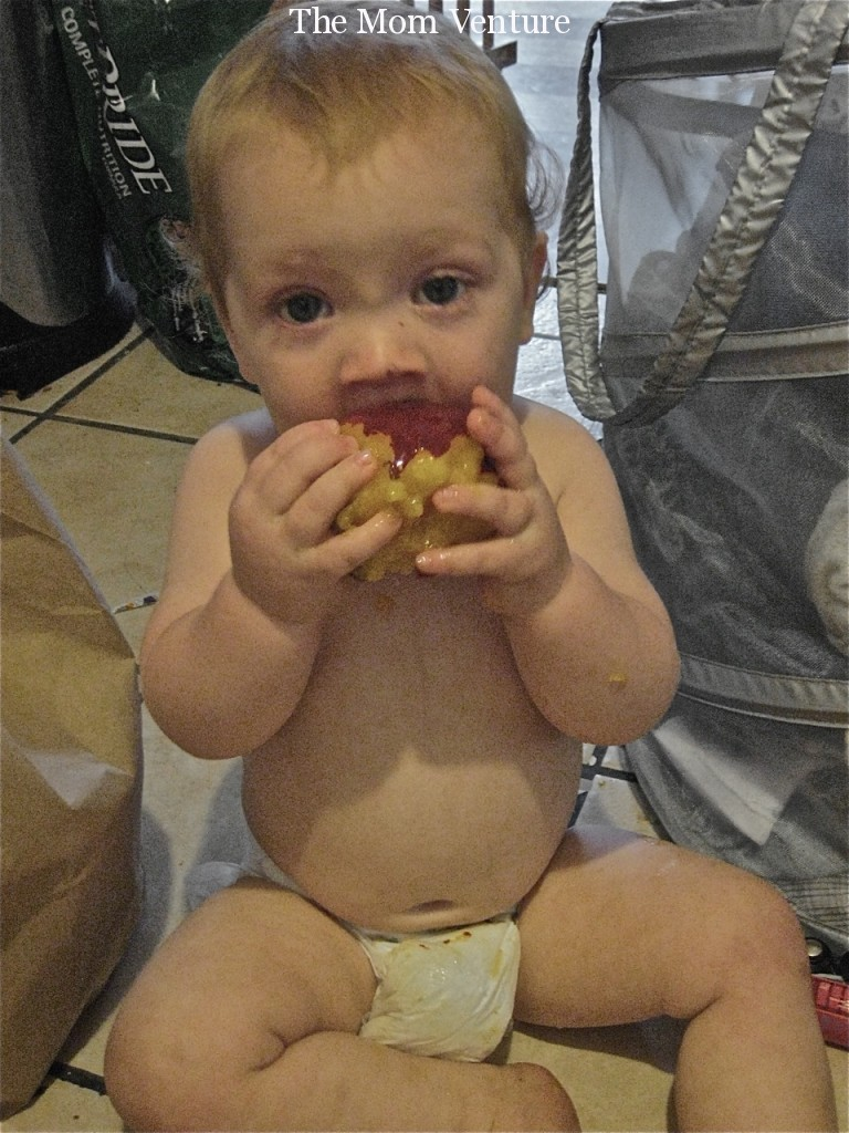 Baby Eating Nectarine