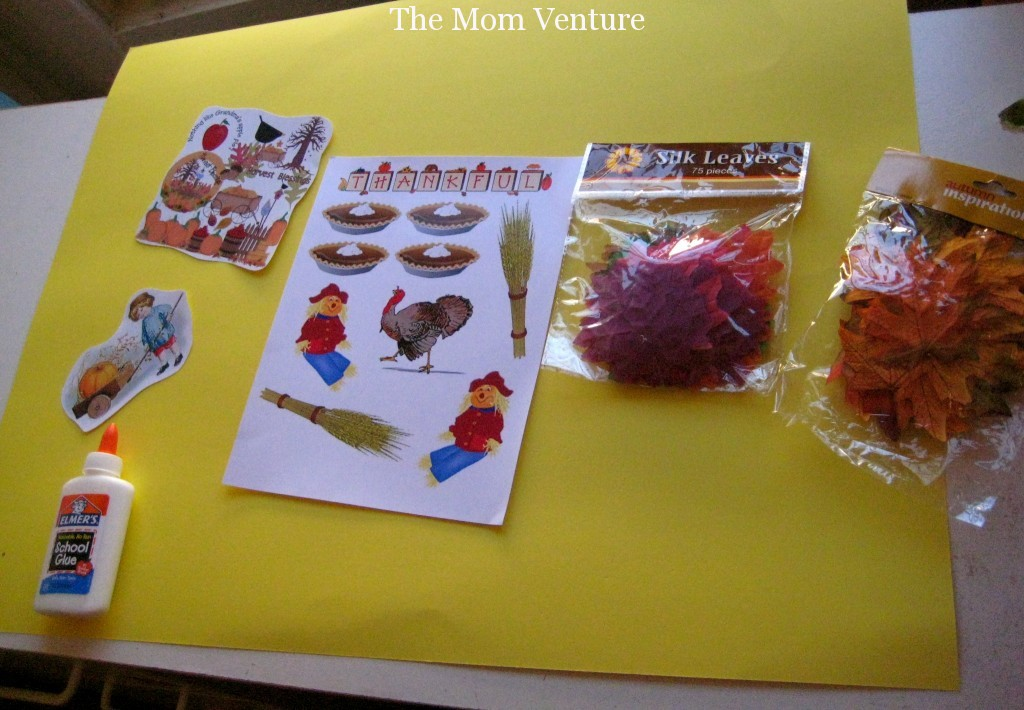 Kid's fall craft project materials