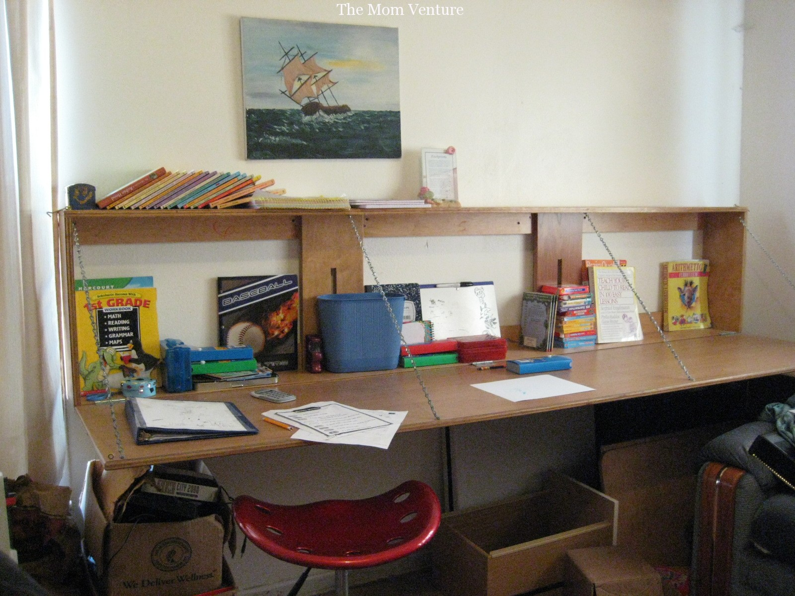 Our New Homeschooling Wall Desk