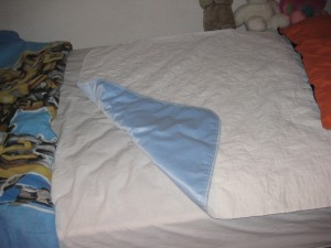 Bed Wetting Washable Bed Pad Underside