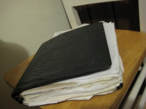 My unorganized Recipe Book/Binder